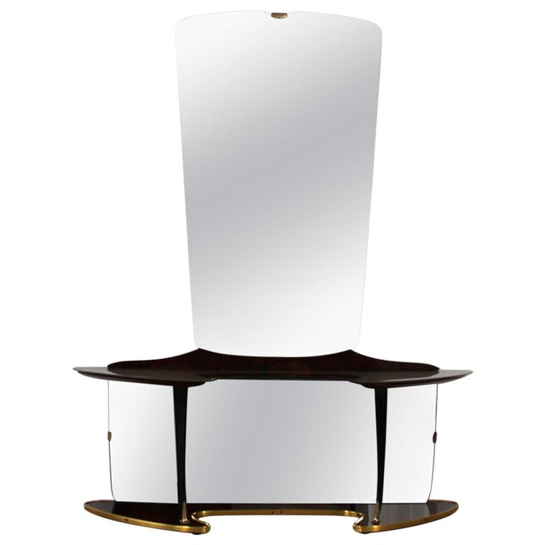 Midcentury Vanity with Opulent Base For Sale