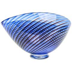 """Midcentury Vase """"Colora"""" Kosta Vicke Lindstrand, 1950s, Sweden"""