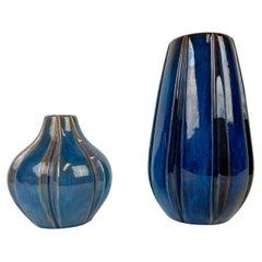 Midcentury Vases Vicke Lindstrand for Upsala Ekeby, Sweden, 1940s