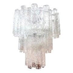 Midcentury Venini Style Murano Glass Chandelier