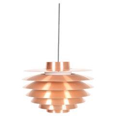 "Midcentury ""Verona"" Pendant in Copper by Svend Middelboe, Made in Denmark"