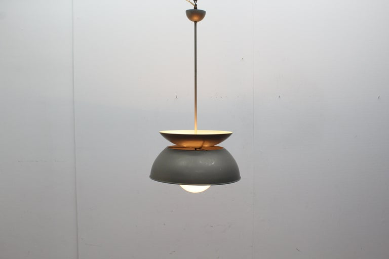 Midcentury Vico Magistretti Metal Cetra Hanging Lamp Artemide, Italy, 1960 For Sale 5