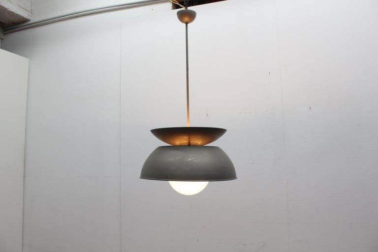 Midcentury Vico Magistretti Metal Cetra Hanging Lamp Artemide, Italy, 1960 For Sale 6