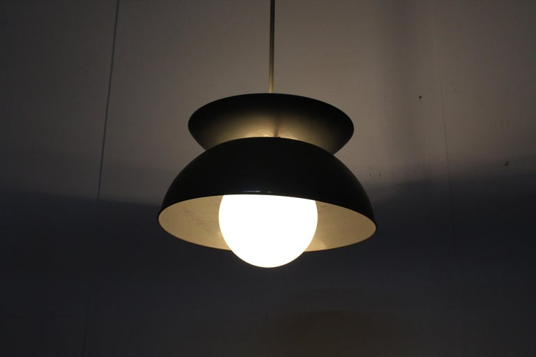 Midcentury Vico Magistretti Metal Cetra Hanging Lamp Artemide, Italy, 1960 For Sale 9