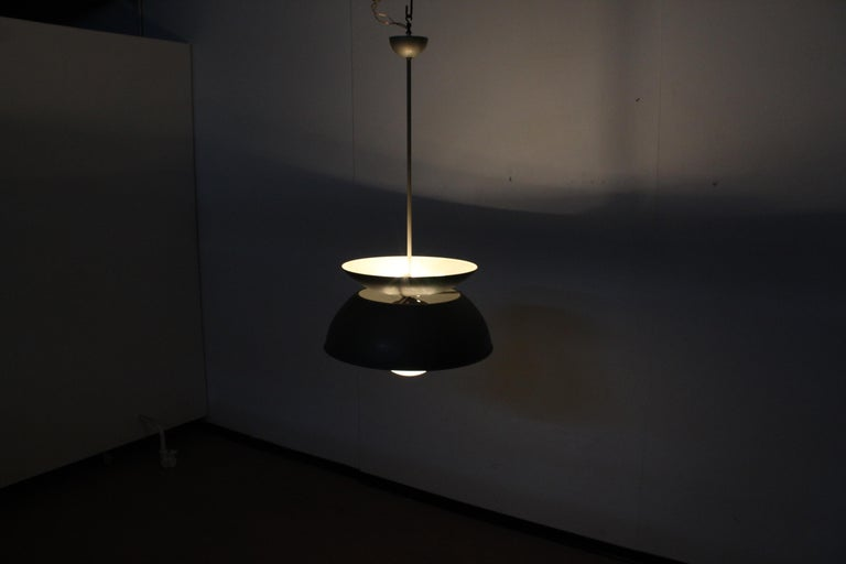 Midcentury Vico Magistretti Metal Cetra Hanging Lamp Artemide, Italy, 1960 For Sale 11