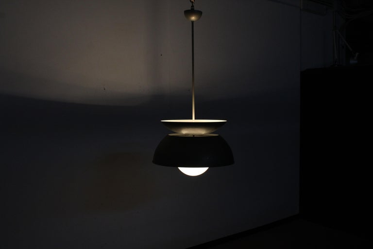 Midcentury Vico Magistretti Metal Cetra Hanging Lamp Artemide, Italy, 1960 For Sale 13