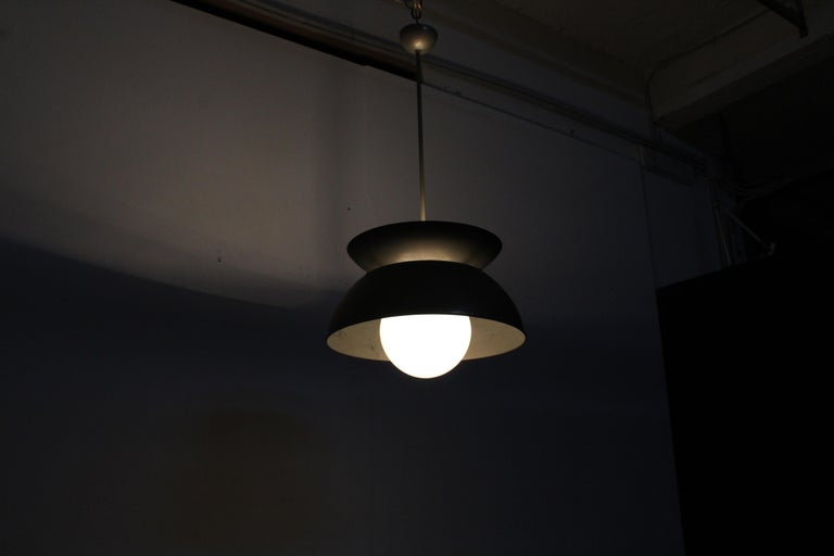 Midcentury Vico Magistretti Metal Cetra Hanging Lamp Artemide, Italy, 1960 For Sale 14