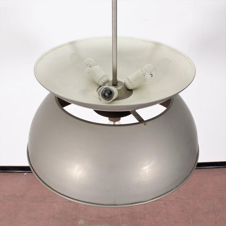 Italian Midcentury Vico Magistretti Metal Cetra Hanging Lamp Artemide, Italy, 1960 For Sale