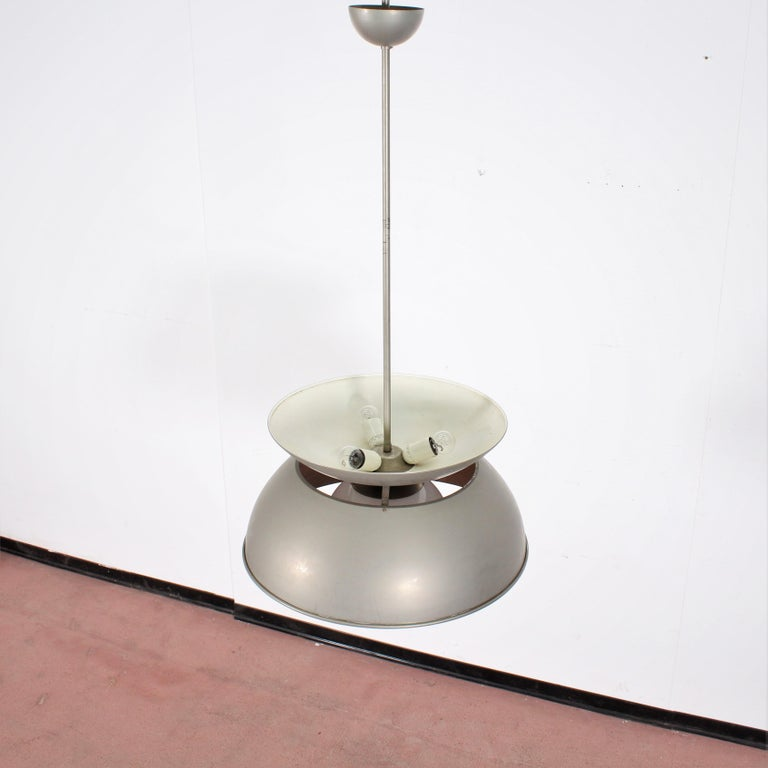 Midcentury Vico Magistretti Metal Cetra Hanging Lamp Artemide, Italy, 1960 In Good Condition For Sale In Palermo, IT