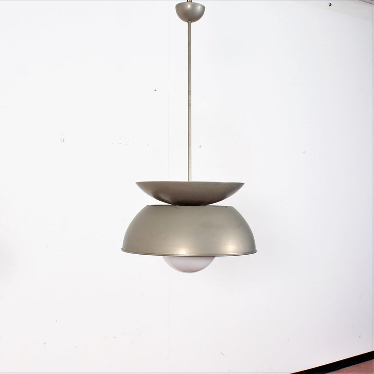 Mid-20th Century Midcentury Vico Magistretti Metal Cetra Hanging Lamp Artemide, Italy, 1960 For Sale