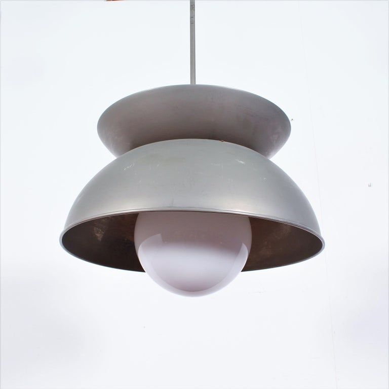 Midcentury Vico Magistretti Metal Cetra Hanging Lamp Artemide, Italy, 1960 For Sale 1