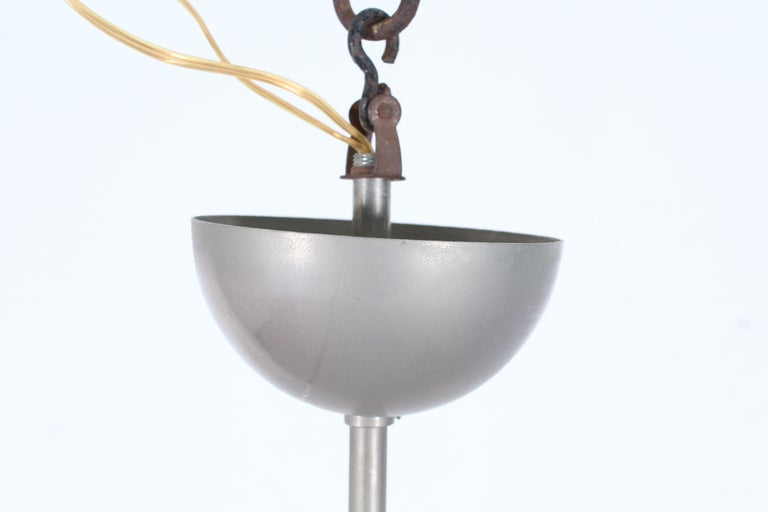 Midcentury Vico Magistretti Metal Cetra Hanging Lamp Artemide, Italy, 1960 For Sale 3