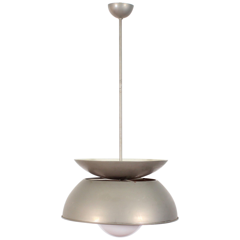 Midcentury Vico Magistretti Metal Cetra Hanging Lamp Artemide, Italy, 1960