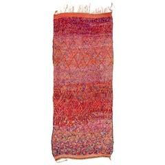 Midcentury Vintage Ait Bou Ichaouen Moroccan Rug