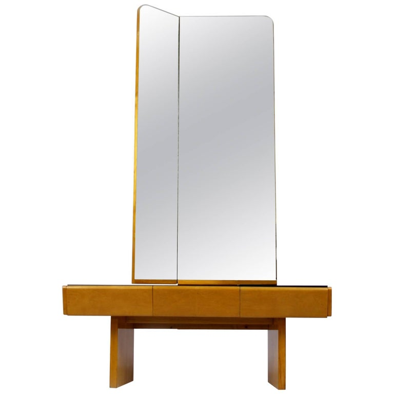 Midcentury Vintage Dressing Table And Mirror Set 1960s At 1stdibs