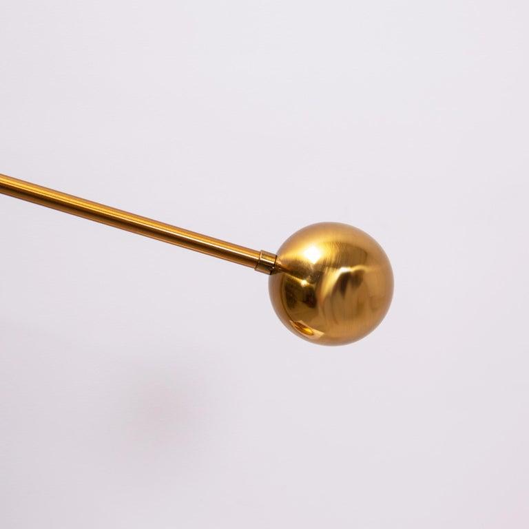 Midcentury Italian Style Brass Globe Table Lamp For Sale 2