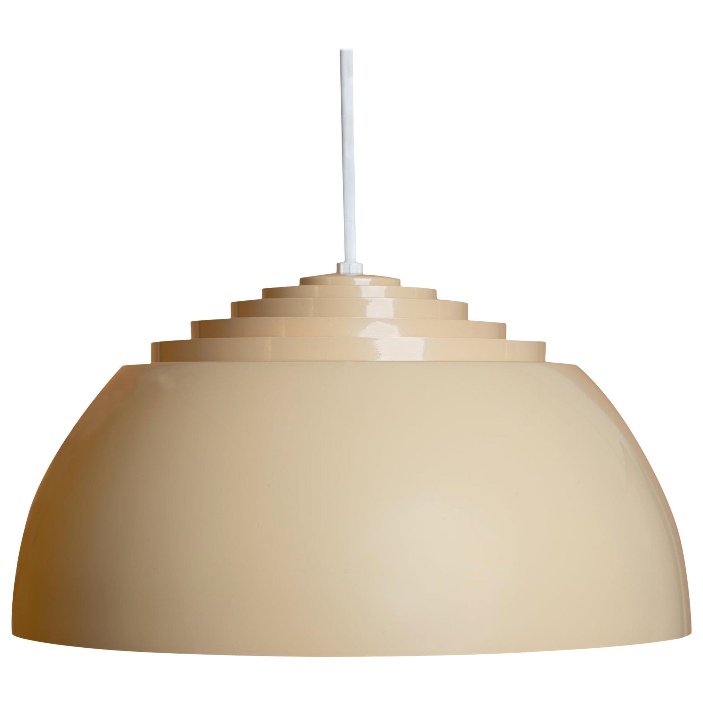 Midcentury Vintage Louvered Lightolier Pendant Light