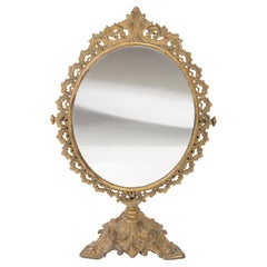 Midcentury Vintage Old Gold Mirror, Italy, 1960s
