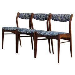 Midcentury Vintage Teak Chairs Danish Design, 1970s