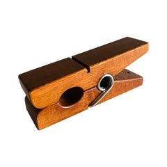 Midcentury Vintage Teak Wooden Clothespin