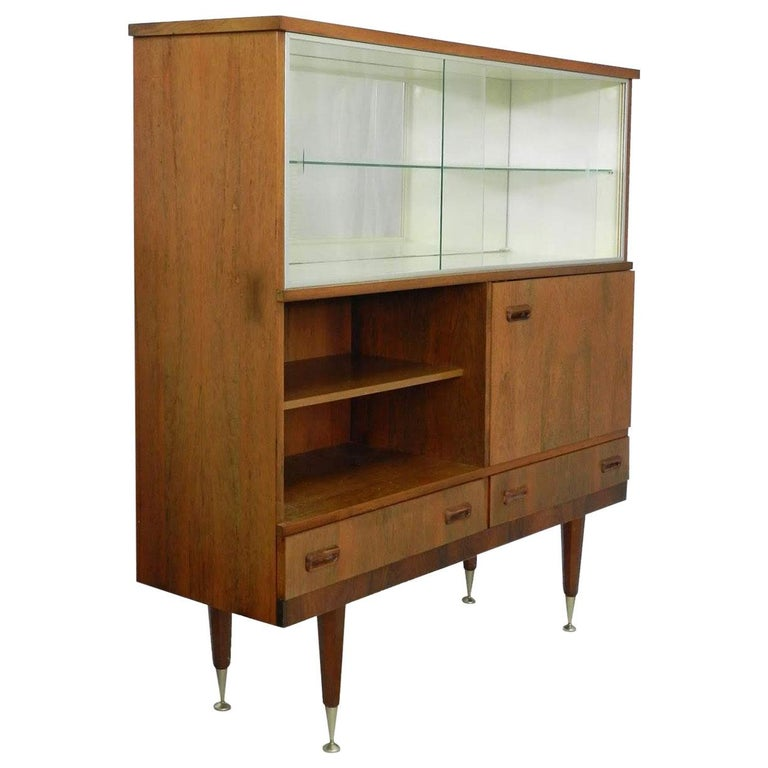 Midcentury Vitrine Cabinet Showcase Scandinavian Style Living Room Display