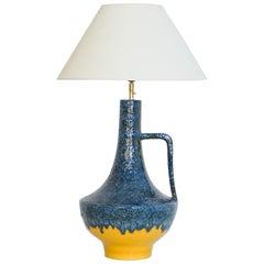 Midcentury W. Germany Ceramic Vase Table Lamp