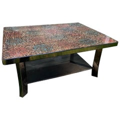 Midcentury Wakasa Lacquered Table