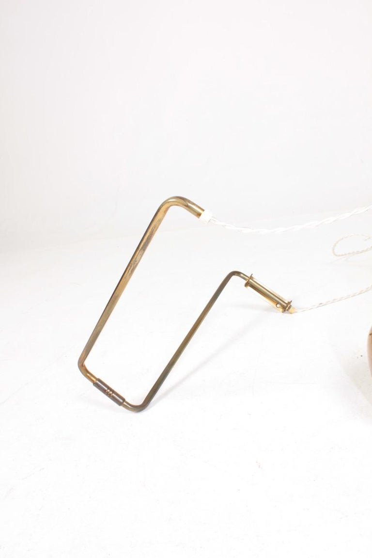 Danish Midcentury Wall Lamp in Brass by Alvar Aalto, 1960s For Sale