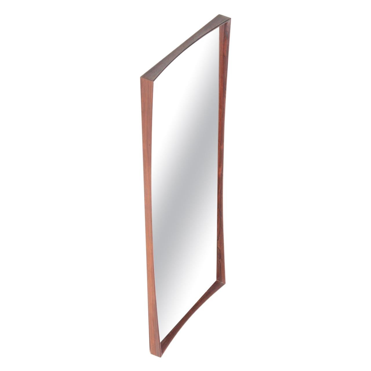 Midcentury Wall Mirror in Rosewood, Danish Modern, 1960s