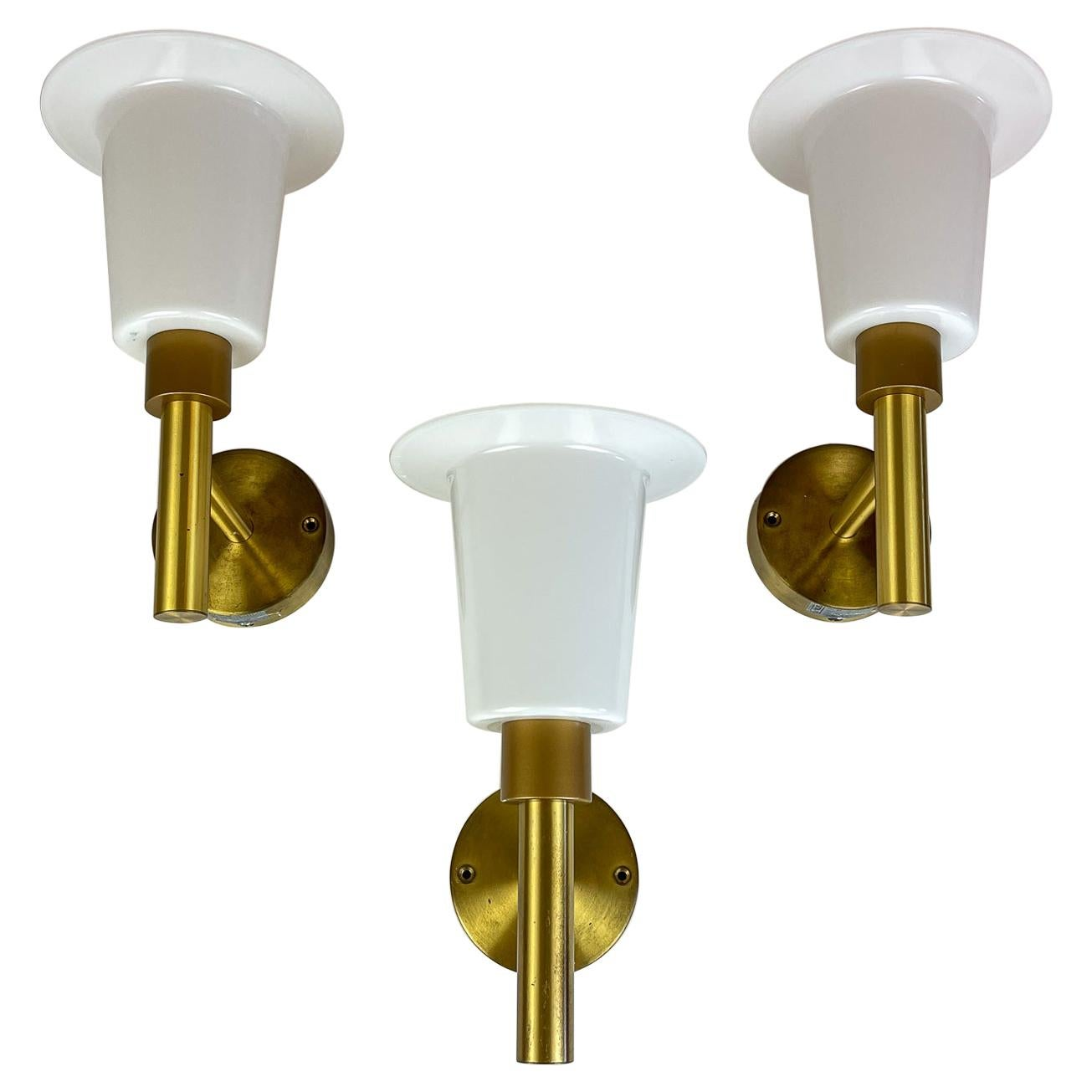 Midcentury Wall-Mounted Brass and Acrylic Lamps Luxus, Sweden, 1960s