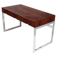 Midcentury Walnut and Chrome Desk
