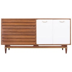 Midcentury Walnut and Lacquered Credenza by American of Martinsville