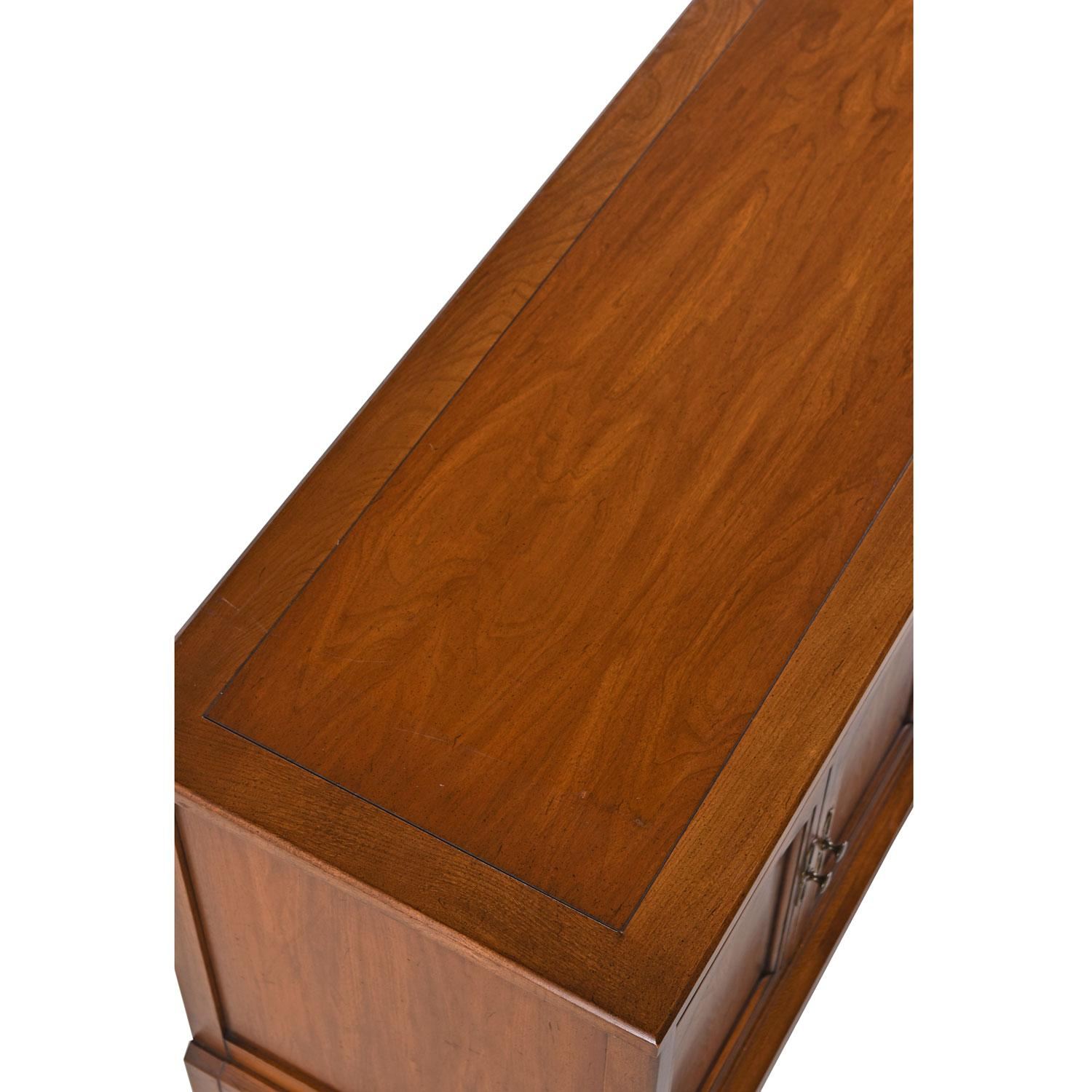 Midcentury Walnut Br Accent Sideboard Credenza By White Fine Furniture At 1stdibs