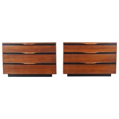Midcentury Walnut Chest of Drawers by John Kapel