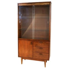 Midcentury Walnut China Cabinet