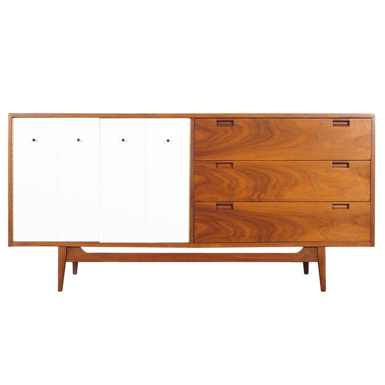 Midcentury Walnut Credenza by American of Martinsville For Sale