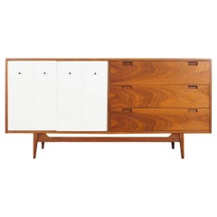 Midcentury Walnut Credenza by American of Martinsville