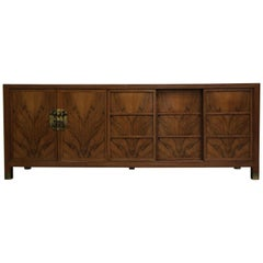 Midcentury Walnut Credenza by Frank Van Steenberg for Baker Far East Collection