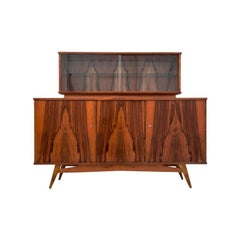 Midcentury Walnut Cupboard Buffet, Credenza Retro, 1970s