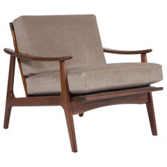 Midcentury Walnut Lounge Chair