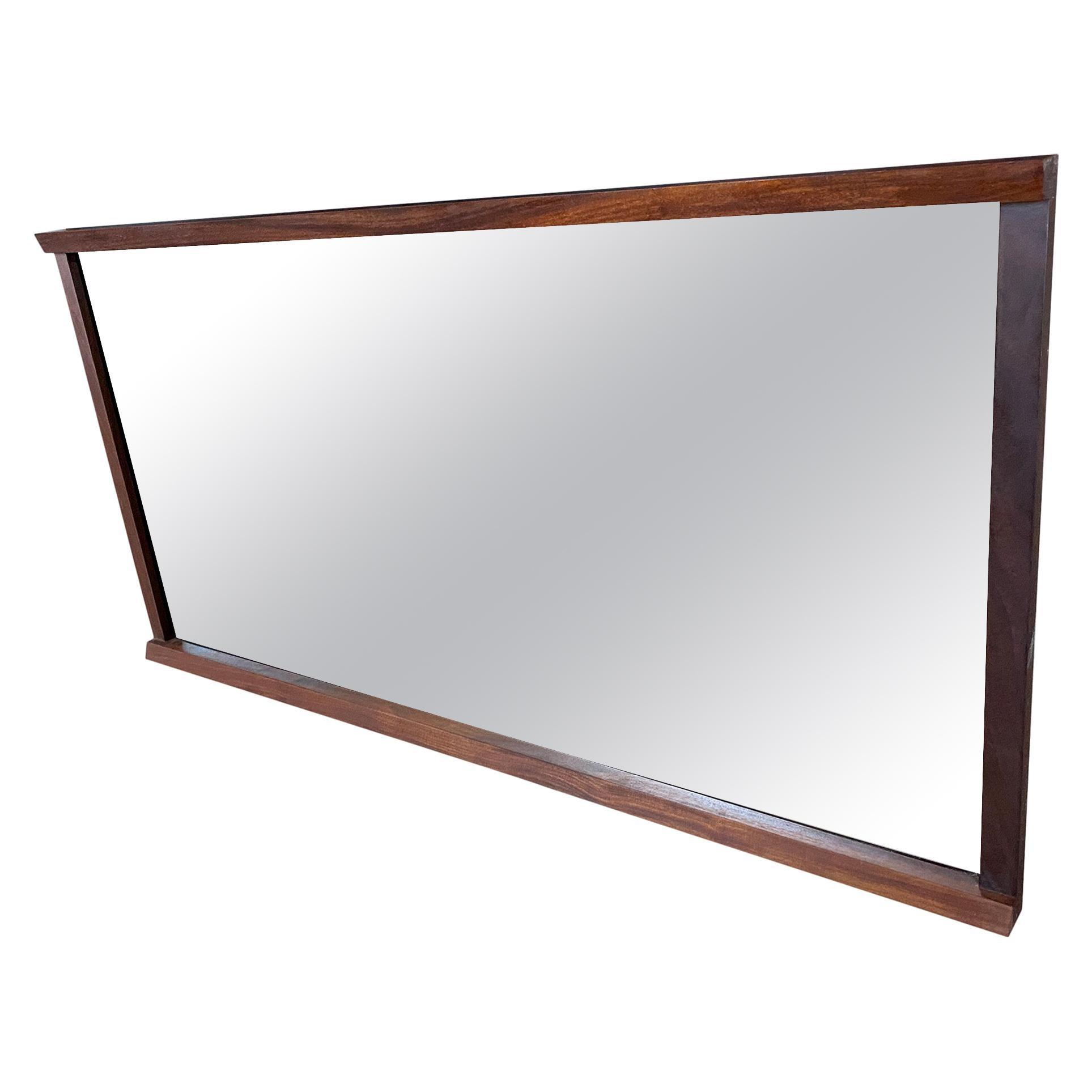 Midcentury Walnut Mirror with Tsugite Joint Very Beautiful Style of Nakashima