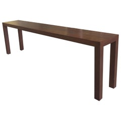 Midcentury Walnut Parsons Console Table