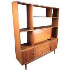 Midcentury Walnut Side Board or Wall Unit