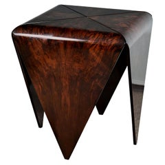 Midcentury Walnut Side Table Attributed to Jeorge Salszupin Atelier