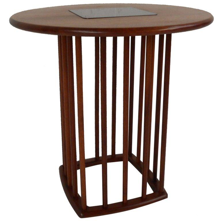Midcentury Walnut Side Table For Sale