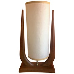 Midcentury Walnut Table Lamp by Modeline Lamp Co.