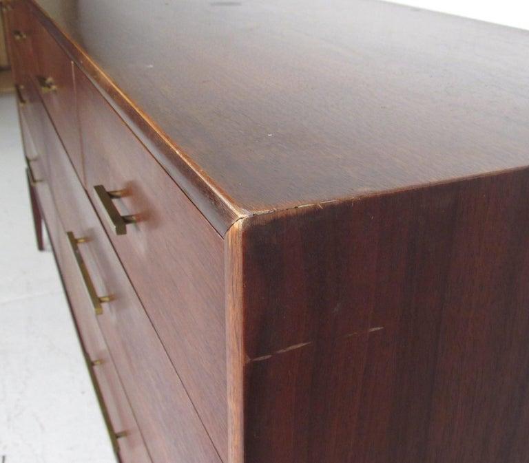 American Midcentury Walnut Three Piece Bedroom Set For Sale
