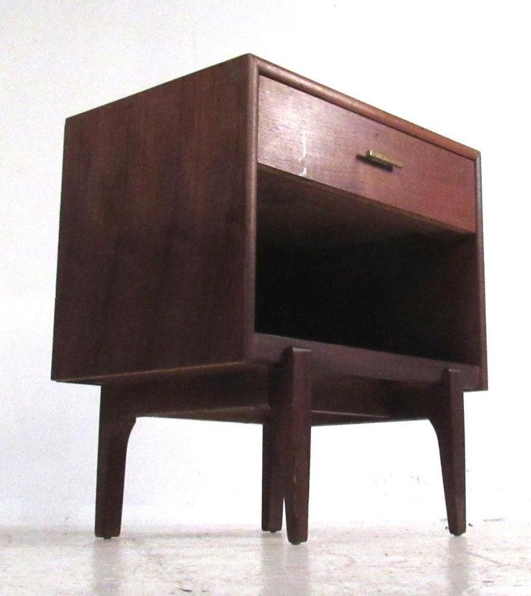 Late 20th Century Midcentury Walnut Three Piece Bedroom Set For Sale