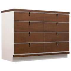 Mid Century White Lacquered Dresser