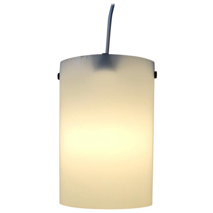 Midcentury White Lucite Pendant Light by Bent Karlby for Lyfa, 1960s